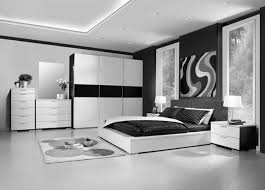 bedroom decor design ideas. Stylish Black And White Bedroom Decor With Big Closet Low Bed Also Deep Tray Ceiling Design Ideas 0