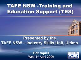 Tafe Nsw Organisational Chart Tafe Nsw Training And Education Support Tes Presented By The
