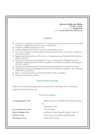 qa manual tester sample resume resume resume for manual tester sample