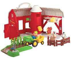 john kids big red barn toy sets farm with animals