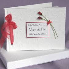 Ruby Anniversary Mom Dad Sign In Book Photo Album Parents 40th