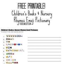 Free Printable Bedtime Chart Free Printable Children Books Nursery Rhymes Emoji Childrens