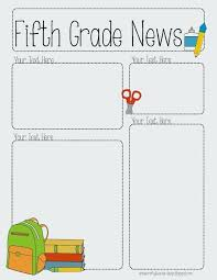 Grade Newsletter Template Monthly Editable 3rd Weekly