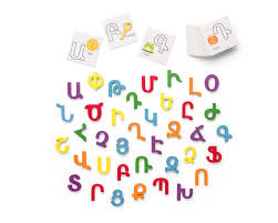 block letters with cards