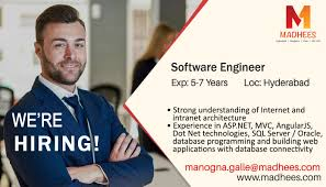 Urgent Requirement Software Engineer With 5 7 Years Experience In