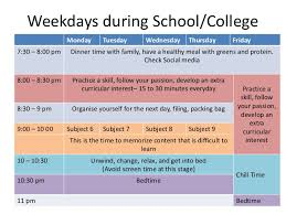 Best Time Table For School College Students Chetchat