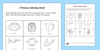 Start your child's journey in reading and writing. J Phonics Worksheet Teaching Resources Teacher Made