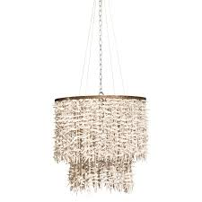 coco bead 2 tier chandelier winter white for weylandts pertaining to new home two tier chandelier ideas