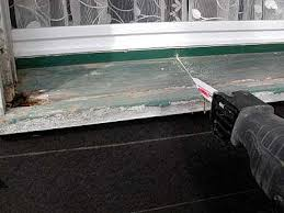 exterior window sill repair. this window sill is a goner. exterior repair