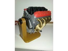 Engine Display Stand Cool 322D Printed Rotating LS322 Engine Display Stand By 32CamaroZ32