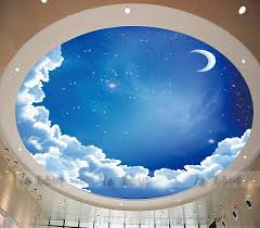 star ceiling circular woven wallpaper ceiling wallpaper mural blue sky