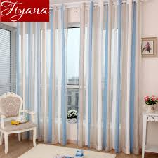 chenille curtains voile modern simple vertical striped window panel yarn kitchen balcony curtains tulle custom made