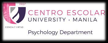Program History The Psychology Department was named as the Department of  Philosophy and Psychology in 1972. Mr. Jose Radovan Luc