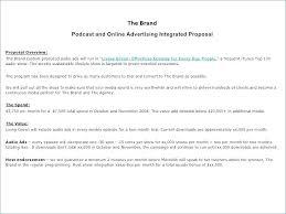 Advertising Proposal Template Word Radio Advertising Proposal Template Radio Advertising Proposal