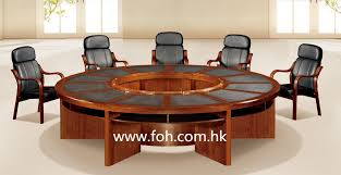 wooden large round conference table conference room table classic office furniture fohsc 3006