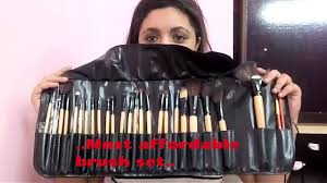 best and most affordable makeup brushes in india 24 pieces brush set good quality in you