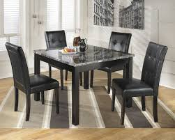 dining room small round wooden dining table using cream marble top also white pads dining