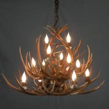 fake deer antler chandelier