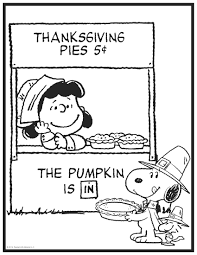 thanksgiving peanuts coloring page crafts