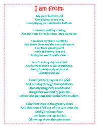 I Am Poems I Am Poem From Poem Template And Sample By Sweet Chic Reading Boutique