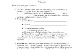 Wedding Contract Template Contracts Questionnaires Catering Service ...