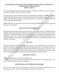 18 Corporate Minutes Template Free Sample Example Format
