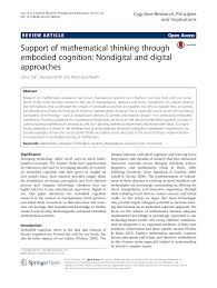 Neuro Embodied Design Support Of Mathematical Thinking Through Embodied Cognition