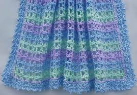Free Crochet Baby Afghan Patterns Gorgeous Ravelry Striped Lace Crochet Baby Blanket Pattern By Amy Solovay For