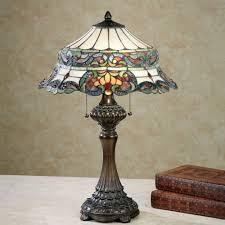 furniture tiffany style floor lamp alluring amora lighting in regarding marvellous multi colored glass table