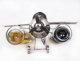Decorative Wine Bottle Holders Creative Handmade Iron Art Airplane Model Wine Bottle Holder 26
