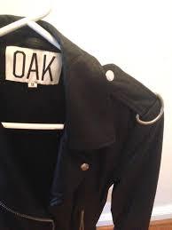 oak nyc combo rider jacket black suede black leather women s size medium runs small