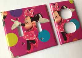 Pink Minnie Mouse Bedroom Decor Light Pink Minnie Etsy