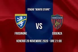 Le formazioni ufficiali di Frosinone - Cosenza - Sito ufficiale del Cosenza  Calcio