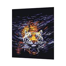 tiger in water create paint by number from photo paint by number catalogspaint by number oil