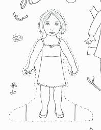 Paper Doll Coloring Pages Inspirational Coloring Pages Barbie Dolls