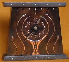 arts crafts mantel clock on wall clock arts and crafts with arts crafts mantel clock copper timber brass