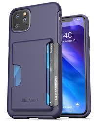 Encased Apple iPhone 11 Pro Max Wallet Case (2019) Ultra Durable Cover with  Card Holder Slot (4 Credit Cards Capacity) Purple - Walmart.com -  Walmart.com