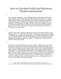 Calculator Credit Card Payment How To Calculate Credit Card Minimum Payment And Interest
