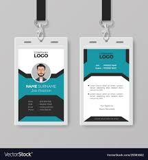 Business Id Template Creative Employee Id Card Template