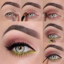 brown and green eyeshadow tutorial