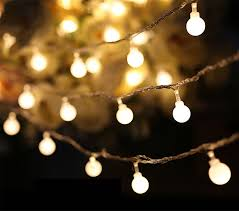 luminaria 50 led cherry fairy string decorative lights battery operated wedding outdoor patio garland