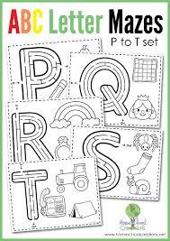 Alphabet Mazes - Letters P to T | Letter maze, Alphabet letters ...
