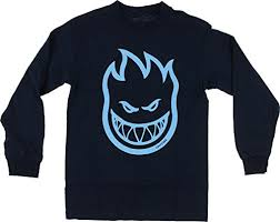 spitfire long sleeve. spitfire bighead long sleeve xl-navy/lt.blue t-shirt
