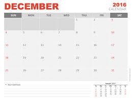 December 2016 Powerpoint Calendar Presentationgo Com