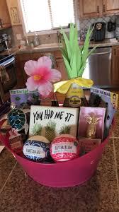 hawaii themed 21st birthday gift basket bath s pineapple chagne facemasks turtle hawaii giftidea hawaiiangift