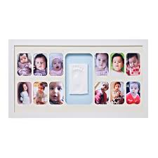 baby memory prints 12 months frame my miracle