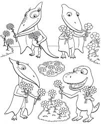dinosaur train coloring page colouring pages free