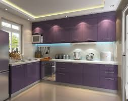 Cabinet And Lighting Fascinating Purple Kitchen Ideas With High Gloss Kitchen Cabinets