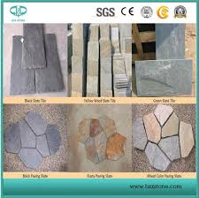 china rusty yellow green slate slate tiles mosaic cultural stone for tile paving floor wall countertop stair step slab etc china slate mosaic slate