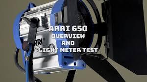650 Light Arri 650 Light Meter Test
